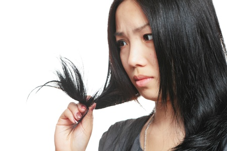 Young woman have hair problem Stock Photo - 10765781