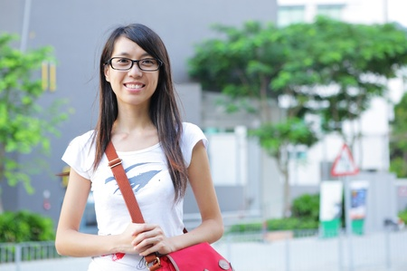 student at campus photo