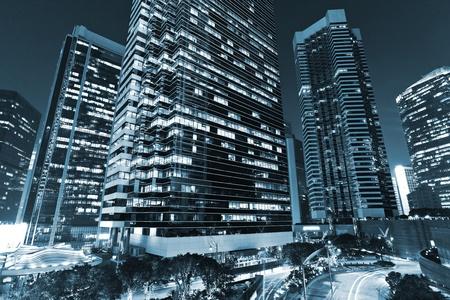 skyscraper in blue photo