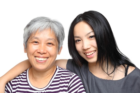 japanese family: mother and daughter