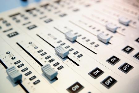 audio mixing planel photo