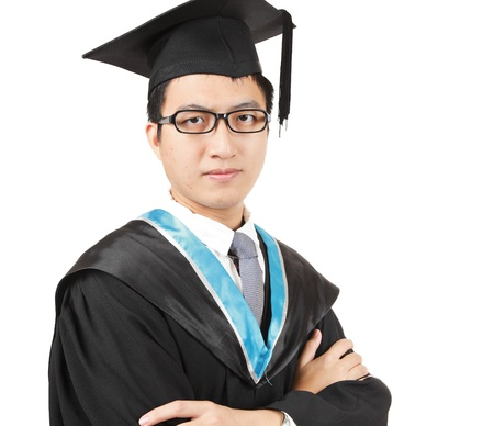 Young Asian man graduation photo