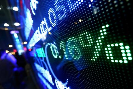 bolsa de valores: mercado de valores de fijaci�n de precios abstracta Foto de archivo
