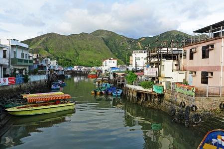 Tai O fishing village in Hong Kong photo