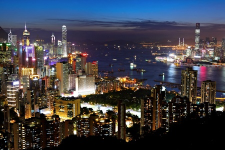 night view of Hong Kong photo