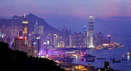night view of Hong Kong photo