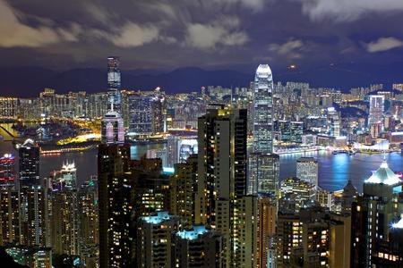 urban urban: Hong Kong skyline at night