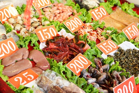 seafood in market for sale Stock Photo - 11283576