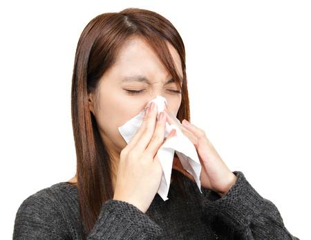 sneeze girl photo