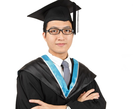 man graduation photo