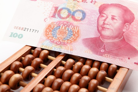 abacus and china money banknote photo