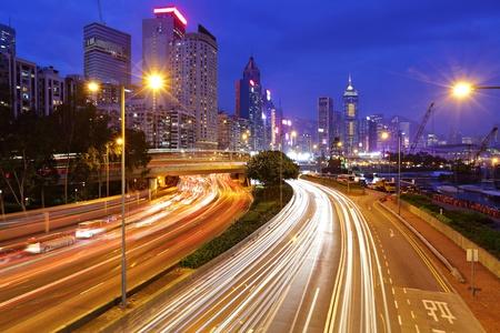traffic in urban at night Stock Photo - 11623130