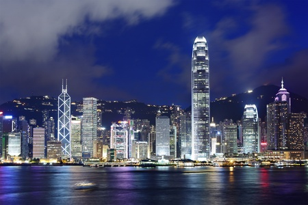 Hong Kong at night photo