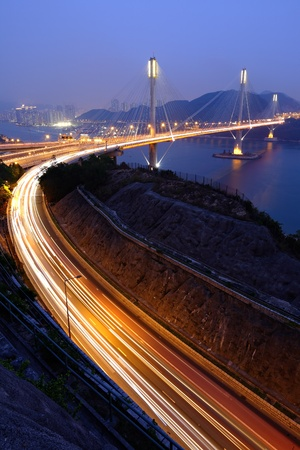 highway and Ting Kau bridge photo