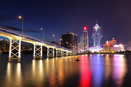 Macau at night Stock Photo