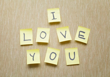 love confession: I Love You memo