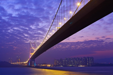 bridge construction: Tsing Ma bridge