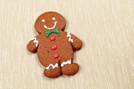 gingerbread man for christmas photo