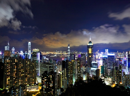 Hong Kong city night photo
