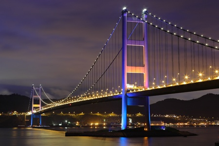 Tsing Ma Bridge in Hong Kong photo