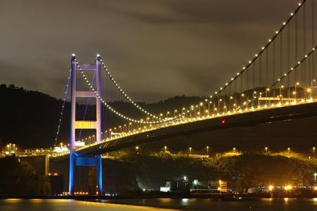 Tsing Ma Bridge in Hong Kong photo