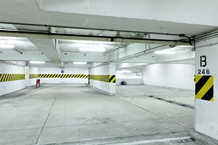 car park interior: car park lot