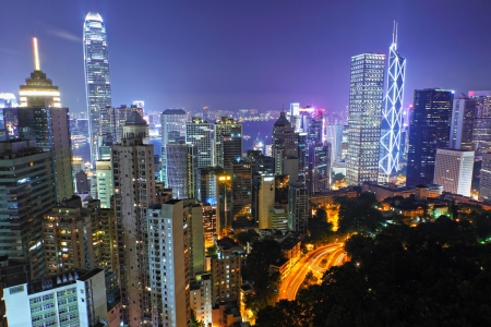 hong kong city at night Stock Photo - 11712172