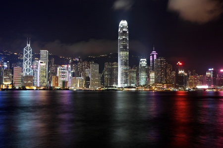 Hong Kong skyline at night Stock Photo - 11712151