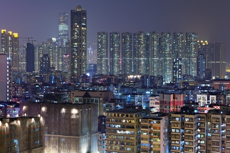 apartment buildings at night Stock Photo - 11796558