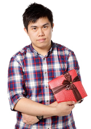 man give gift photo