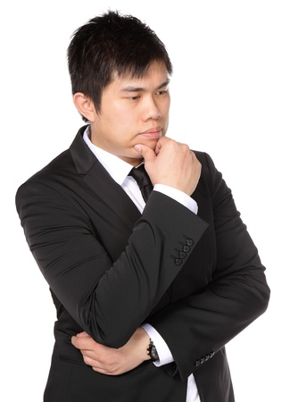 young asian business man thinking photo