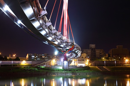 bridge at night in Taiwan photo
