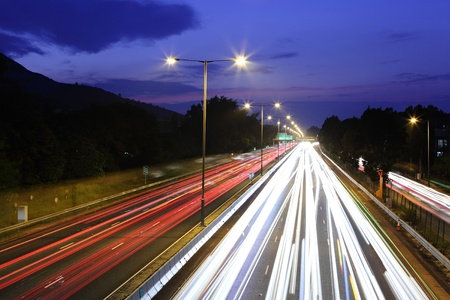 Highway at night Stock Photo - 11796903