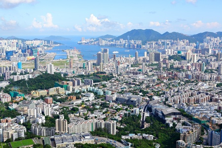 Hong Kong crowded building city Stock Photo - 11796955