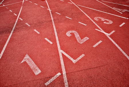 track and field athlete: retro sport running track Stock Photo
