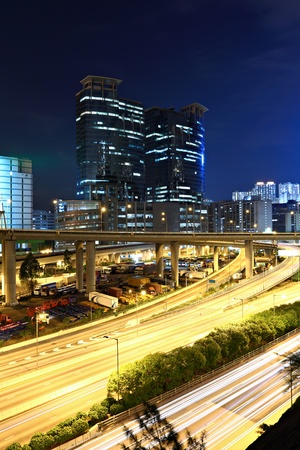 traffic and highway at night Stock Photo - 11855857