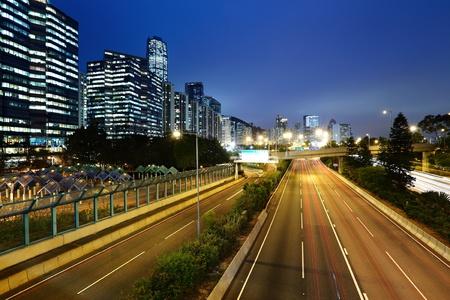 light trails in mega city highway Stock Photo - 11855860