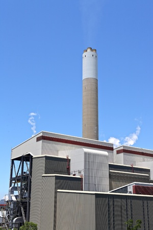 Coal fired electric power plant photo