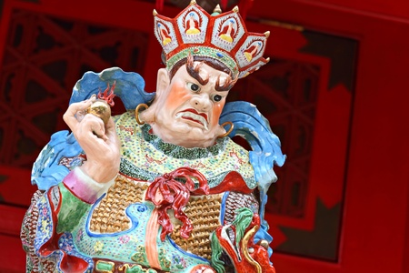 statue in chinese temple photo
