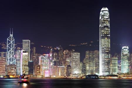 kong river: Hong Kong harbor view Stock Photo