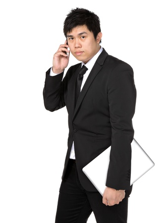 young business man with mobile phone Stock Photo - 11855904