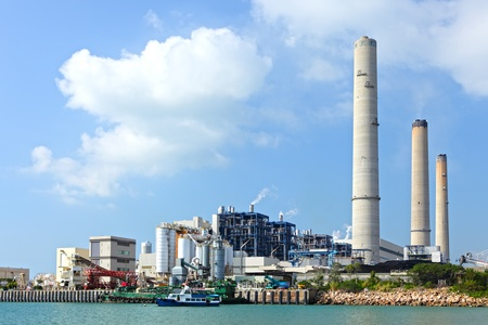 Coal fired electric power station photo