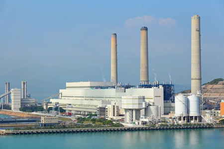 coal fired: Coal fired electric power station Stock Photo