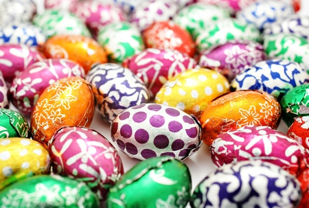 Colorful easter egg background photo