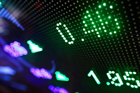 currency exchange: stock market price display abstract