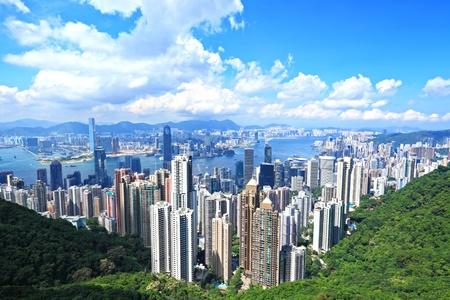kong: Skyline of Hong Kong City from the Peak