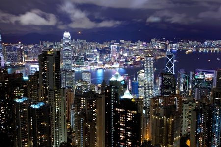 Hong Kong night Stock Photo - 11991938