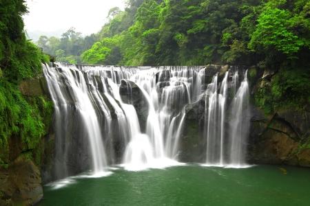 waterfall with sky: waterfalls in shifen taiwan Stock Photo