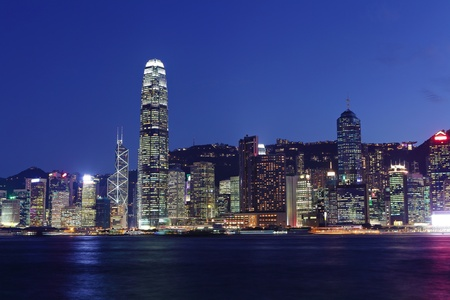 hong kong harbour: Hong Kong Skyline