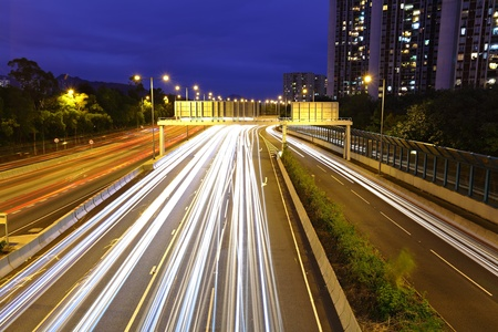 highway light trails photo